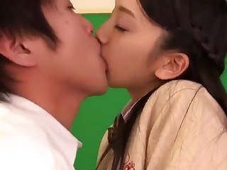 Divine woolly Japanese youthful bimbo An Tsujimoto is making a best blowjob of my life