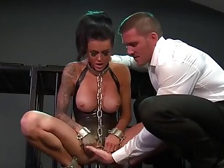 Hot buxomy dame on touching very hot hardcore video