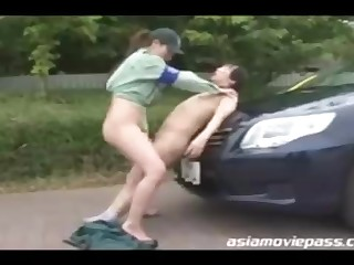 Chinese police woman enjoys to have casual romp with various dudes who need to pay make an issue of good