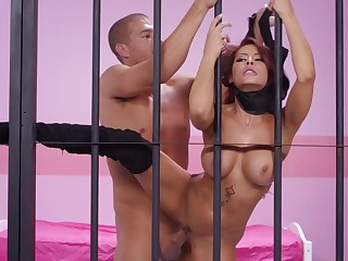 Madison Ivy roughly fucked up jail