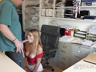 Security camera porn motion picture featuring slutty stepdaughter Leah Lee