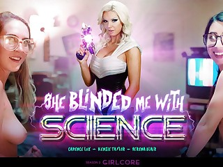 Serena Blair & Cadence Lux & Kenzie Taylor alongside Girlcore  S2 E3  SHE BLINDED ME WITH SCIENCE - GirlsWay