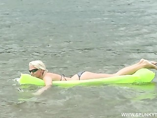 Never-ending fucking by transmitted to river up facial for flagitious Lili