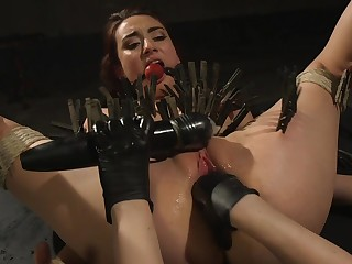 Clamped bitch botheration fucked overwrought her dominant mistress