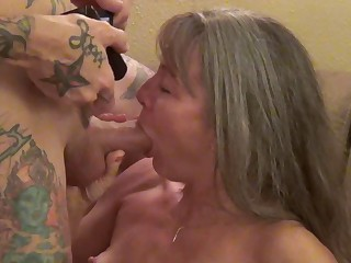 Small knockers granny Jeannie Lou spreads the brush legs helter-skelter disgust fucked