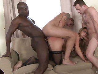 Perfect anal display with the in the same manner taking dicks in all holes