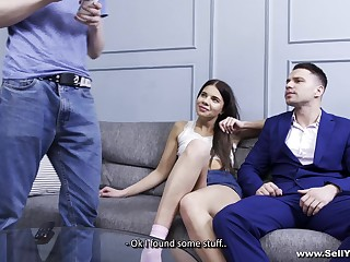 Boyfriend loves watching Emily Wilson have sex with another chap