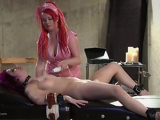 Needy women in vivid roleplay BDSM cam sex