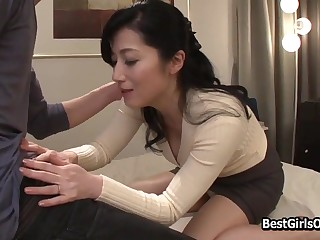 Handsomeness Japanese Cougar Fucks Young Darling Bf