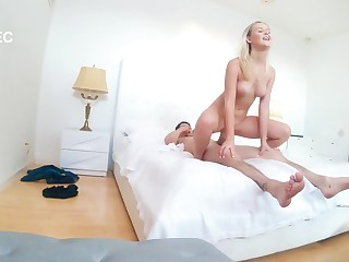 Amazing moments caught on the hidden cam when my sis rides me hard