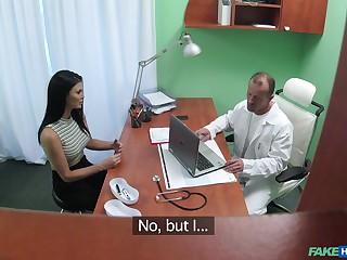 Brunette hottie Jasmine Jae fucked in hammer away doctor's office. HD