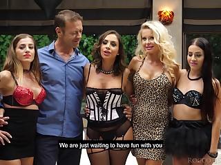 Malleable slut Joanna Bujoli seems relating to be gung-ho enough for wild gangbang