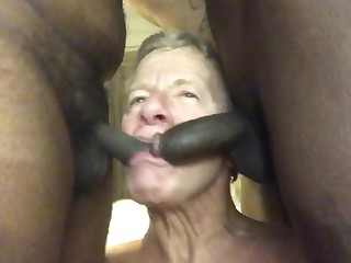 elderly pervert Stewart Bowman throat copulated by black shemales