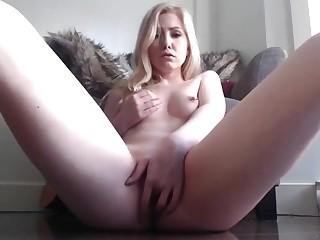 blonde stepsister fingering her wet pussy