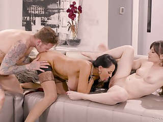 Aroused women share the dick in some of sterling XXX scenes