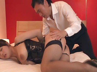 Busty join in matrimony Marina Shiraishi in stockings having sex - compilation