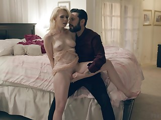Seductive blonde filmed when inviting dick seriously