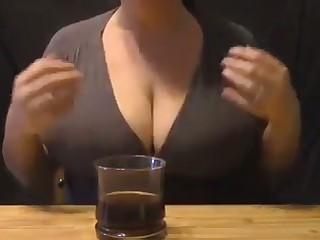 Damn I love this woman's brisk milky tits and I'd love nigh suck them dry