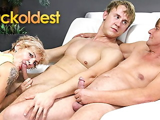 Young guy fucks wife and husband joins on tap CuckOldest