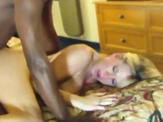Blonde white woman with black man Hardcore Interracial