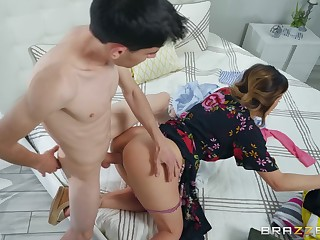 Mommy gets the young cock to for all ruin her pussy