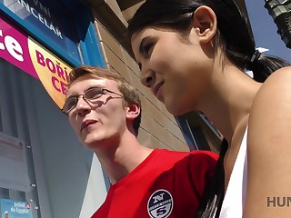 Nerd baffle in glasses gets cucked for savings