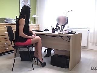 Future secretary Inga is properly fucked doggy style wits horny boss
