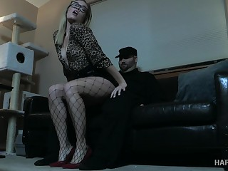 Kirmess in glasses Katie Kush gets punished in the dark BDSM section