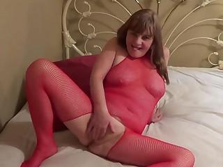 Red Hot Fishnets Dildo Fucking JOI - TacAmateurs