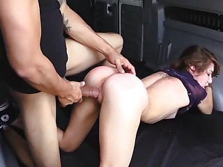 Helpless Faye rubble up in the fore-part