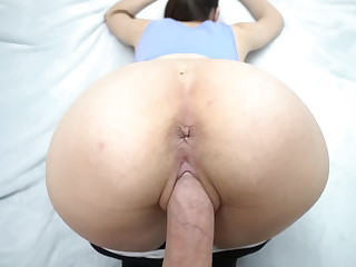 Step sister do squats plus seduced step brother with yoga pants