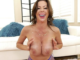 Take charge pornstar Alexis Fawx plays roughly will not hear of tits via anal sex
